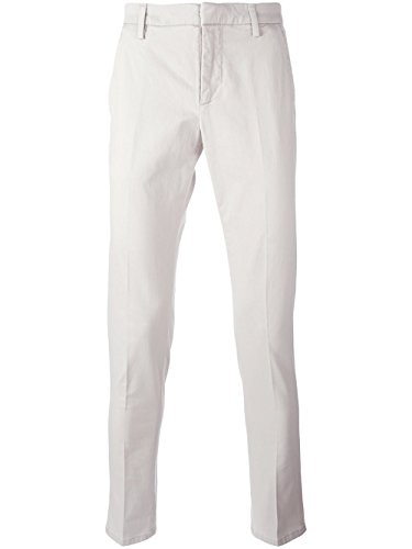 Dondup Homme UP235CS049U005 Blanc Coton Pantalon
