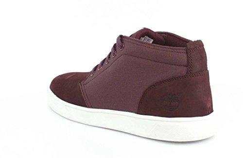 Mens Uomo Groveton Ltt Chukka L / F Moda Sneaker Rosso Scuro