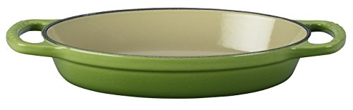 - Le Creuset Enamel Cast Iron Signature Oval Baker, 5/8 quart, Palm