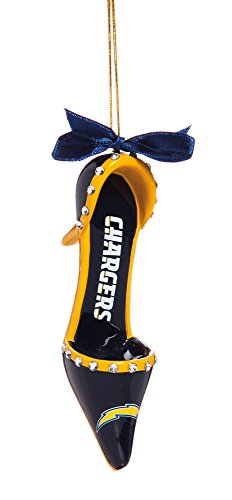 Team Sports America NFL San Diego Chargers High Heel Ornament, Small, Multicolor
