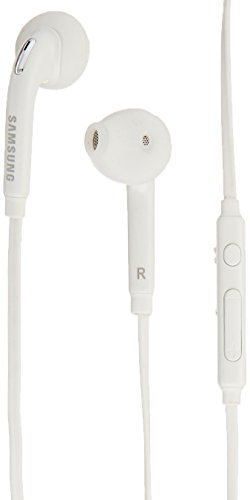 Samsung (2 PACK) OEM Wired 3.5mm White Headset with Microphone, Volume Control, and Call Answer End Button [EO-EG920BW] for Samsung Galaxy S6 Edge+ / S6 / S5, Galaxy Note 5 / 4 / Edge (Bulk Packaging)