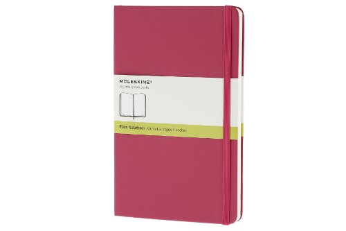 Moleskine Classic Notebook, Large, Plain, Magenta, Hard Cover (5 x 8.25) (Classic Notebooks)
