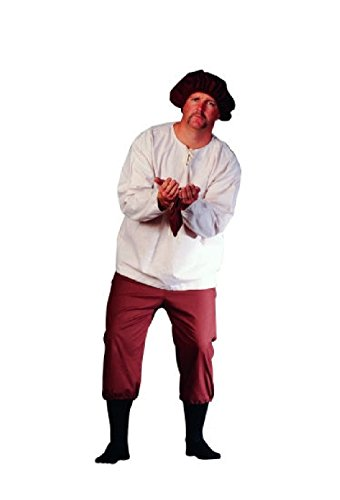 Pioneer Costume Ideas (OvedcRay Renaissance Peasant Adult Men Farmer California Gold Miner Costume)
