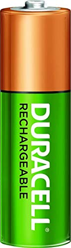 Rechargeable AA Batteries Duracell all-purpose Double A battery for household and business 2 count long lasting
