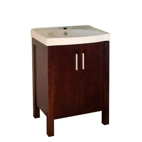 Bellaterra Home 804381 23.8-Inch Single Sink Vanity, Wood, Walnut