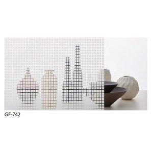幾何柄 飛散防止ガラスフィルム サンゲツ GF-742 92cm巾 4m巻 B07PDBGJCM
