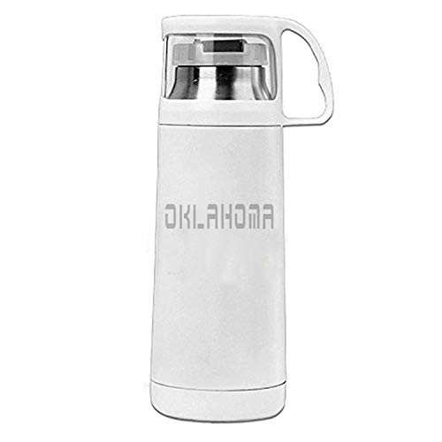 ZMvise Oklahoma Stainless Steel Commuter Bottle Table Coffee Water Travel Mug With Drink Cup Thermoses 12 Ounce ()