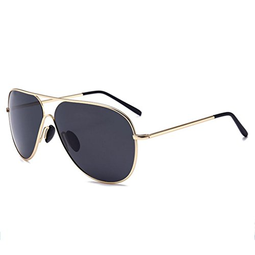 black lunettes de l'Europe et Unis soleil tendance grenouille Gold frame et hommes États soleil polarisant femmes les rétro de miroir Lunettes WLHW 1qZ5BB