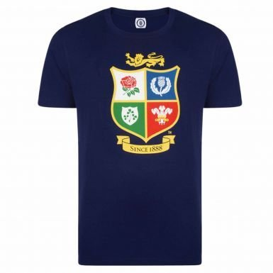 Official British & Irish Lions Rugby Crest New Zealand 2017 Tour T-Shirt (Rugby Lions Shirt)