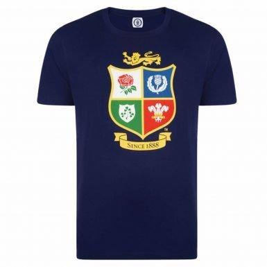 Official British & Irish Lions Rugby Crest New Zealand 2017 Tour T-Shirt