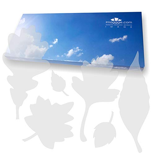 imaggge.com Window Alert - Anti-Collision Stickers to Prevent People and Bird Strikes on Window Glass - Set of 39 Tree Leaves Decals - Color: Translucent/Dusted ()