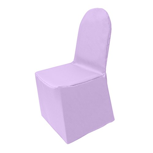 Ultimate Textile (10 Pack) Polyester Universal Chair Cover - for Wedding or Party use, Lilac Light Purple by Ultimate Textile