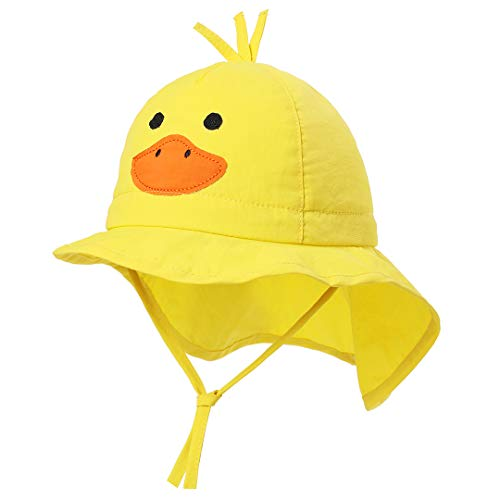 - Unisex Baby Hat Animal - Toddler Bucket Hats Quickly Dry Sun Protection Beach Hat (M 48/6-12 Months, Duck Neck Flap)