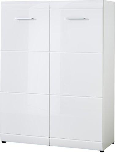 Germania 3524-84 Schuhschrank GW-Adana, 89 x 120 x 37 cm, weiß