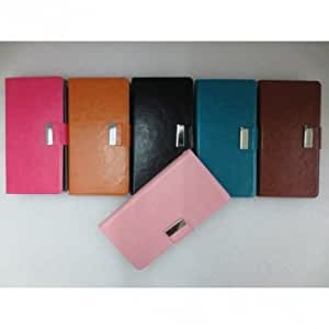 Synthetic Leather Card Wallet Case For Meizu MX2 Smart Phone -*- Color -- Pink