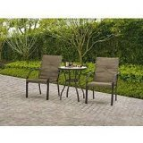 Mainstays Spring Creek Outdoor 3-Piece Patio Picnic Bistro Set, Tan