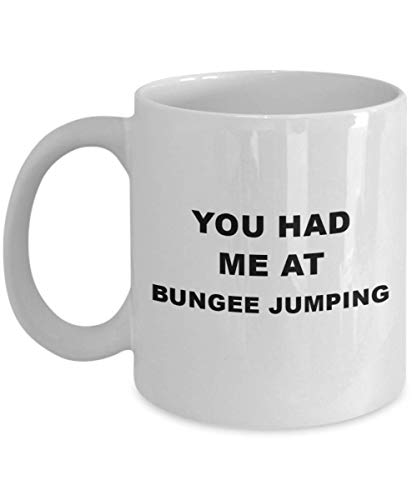 Bungee Jumping Gifts - Coffee Mug For Bungee Jumping, for Women And Men, Unique Extreme Sport Hobby Present, Ceramic Tea/Coffee Cup