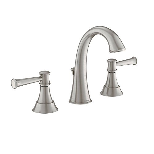Moen 84778msrn Ashville Widespread 2 Handle Bathroom Faucet With Microban Protection 8 Inch