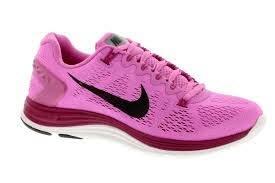 Nike Women's Lunarglide+ 5 Running Shoes (11.5 B(M) US, Red Violet/Black Pn-bright Mgnt-purple P)