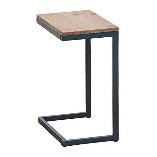Shaped Accent - Amaya Outdoor Antique Firwood C-Shaped Accent Table