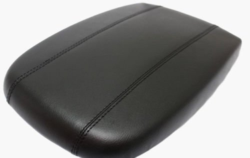 Fits 1998-2002 Lincoln Navigator Real Black Leather Center Console Lid Armrest Cover Cover (Skin Only) ()