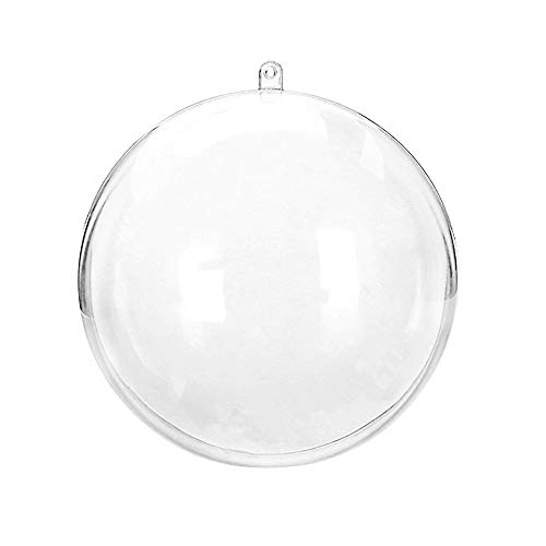 (m·kvfa DIY Christmas Decorations Ball Transparent Can Open Christmas Clear Ornament Fillable Baubles Assorted Size Clear Plastic Ornaments Ball Christmas Tree Decoration)