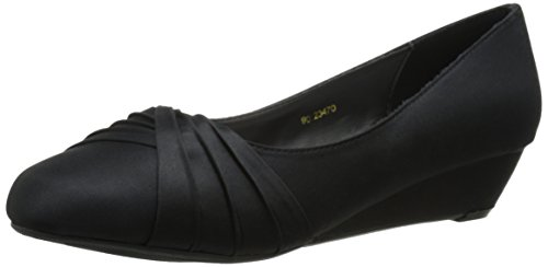 Rue Dyeables Dress Pump Satin Black Women's Womens Inc wP88nURqOC