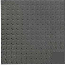 Black/Brown Rubber Tile Low Profile Circular Design 50cm