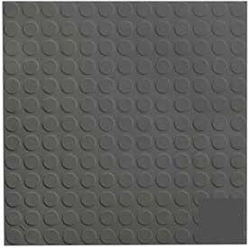 Black/Brown Rubber Tile Low Profile Circular Design 50cm