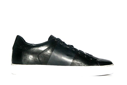 Crime London - Zapatillas de Piel para hombre negro negro
