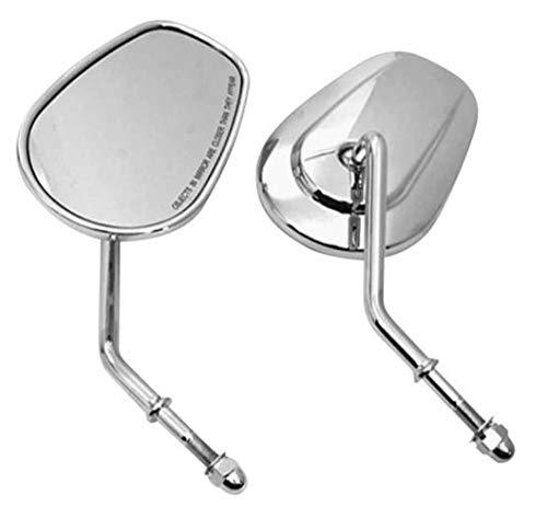(Biker's Choice Tapered Mirrors (Short Stem) (Chrome))