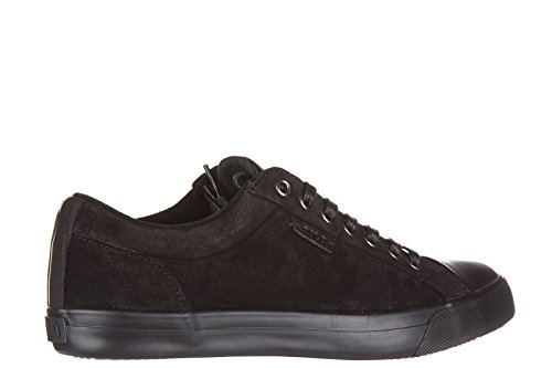 Polo Ralph Lauren chaussures baskets sneakers homme en daim geffrey noir