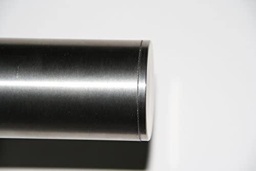 pasamanos de pared de dividido con tapas ligeramente curvadas Pasamanos de acero inoxidable V2A de 42,4/mm pulido en grano 240
