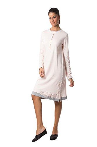 FIDA Camicia da Notte in Caldo Cotone, Modello Serafino.