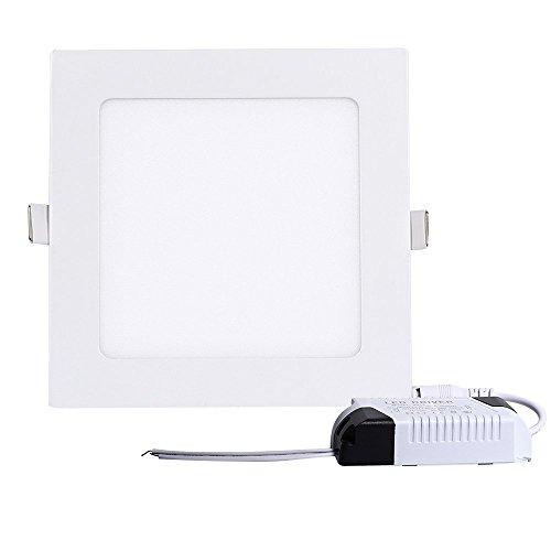 Tping 12W Eckig Ultra Flach Design LED Panel Deckenleuchte Deckenlampe Einbauleuchte Tageslicht für Esszimmer Wohnzimmer Flur Büro Küche - Warmweiß