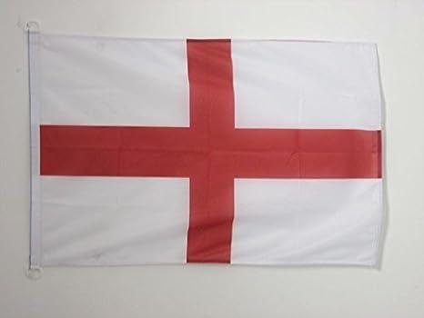 AZ FLAG Bandera Nautica de Inglaterra 45x30cm - Pabellón de conveniencia INGLÉSA - Cruz DE San Jorge 30 x 45 cm Anillos: Amazon.es: Jardín
