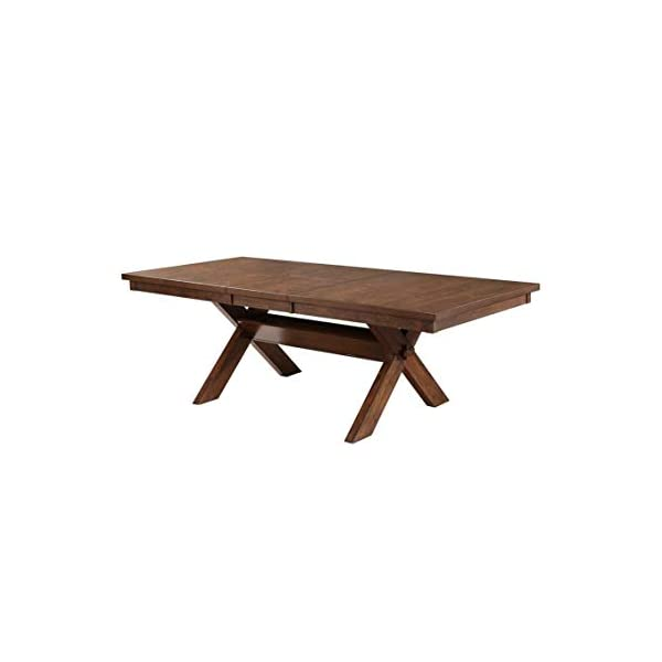 9 Piece Solid Wood Dining Set with Table and 8 Chairs Brown Modern Contemporary Rectangle Distressed Butterfly Leaf