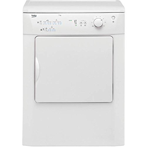 Beko DRVT71W Freestanding Front-Load Tumble Dryer - Class C - White - Load...