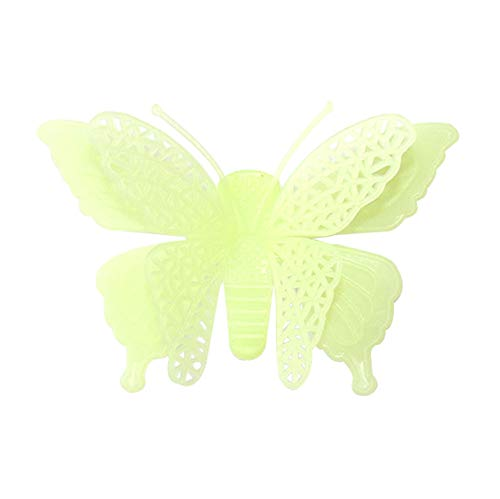 OTTATAT Wall Stickers Flowers 2019,6PC Luminous Butterflies Skin Decorative Glow in The Dark Art Easy to Stick Birthday Couple Suite Gift for Bride On Sale