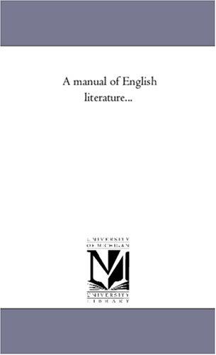 A manual of English literature... PDF