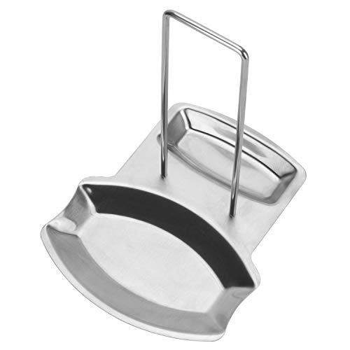 Rest Lid - 1 Pcs Stainless Steel Lid and Spoon Rest, Pan Pot Cover Lid Rack Shelf Stand Holder Spoon Rest Stove Organizer Storage Soup Spoon Rests Kitchen Tool