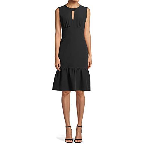MILLY Womens Peyton Ruffle Dress Black 10