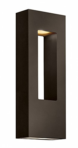 - Hinkley 1648BZ-LED Contemporary Modern Two Light Wall Mount from Atlantis collection in Bronze/Darkfinish,