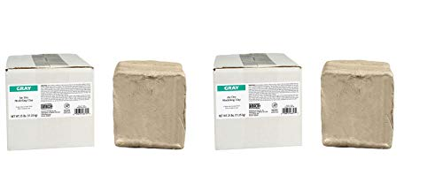 AMACO AMA46317P Air Dry Clay, Gray, 25 lbs. (Pack of 2)