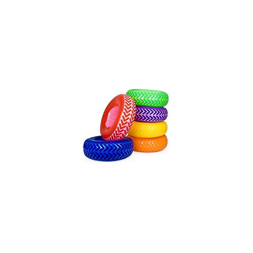 Fun Express BB018375 Inflatable Tire Obstacle Course - 6-Set (Inflatable Tire Set)