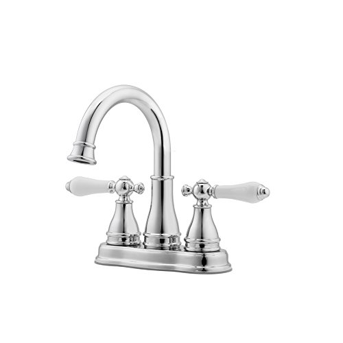 Pfister Sonterra Polished Chrome 2-Handle 4-in Centerset WaterSense Bathroom Faucet (Drain - Blue Centerset