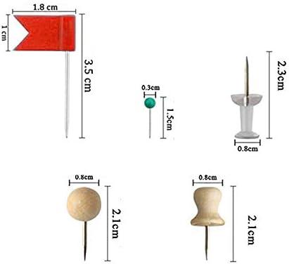 CAOLATOR.700 St/ück Rei/ßnagel Transparent Push Pins Holz Pinnadeln Kopfgr/ö/ße Heftzwecken Bunt Polsterung N/ägel Pinwand Pins Mix Set