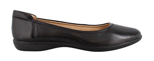 Naturalizer Women's Flat Flexy, Black Leather, Size 7.5