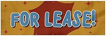 12x4 for Lease CGSignLab Nostalgia Burst Wind-Resistant Outdoor Mesh Vinyl Banner