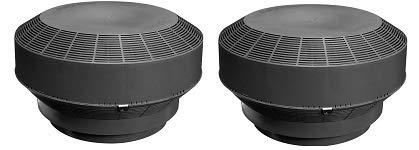 Duraflo 6001BL Replacement Retrofit Type B Roof Vent Turbine, Black (2-Pack)